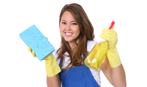 Happy maid from cleaning services Honolulu
