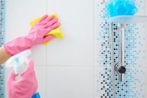 How do you disinfect a bathroom?