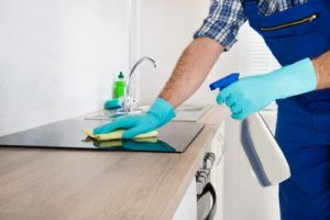 How do you sanitize a kitchen?