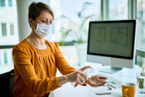 How many times should offices be cleaned or disinfected to prevent COVID-19